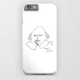 Pablo Picasso William Shakespeare 1946 Portrait, Line Drawing Artwork Reproduction For TShirt, Frame iPhone Case