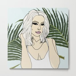 Lil Debbie Digital Illustration Metal Print