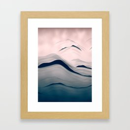 sea hills and sky Framed Art Print