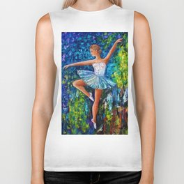 Dance In The Rain Of Color Biker Tank