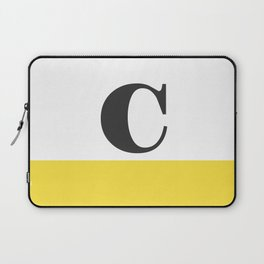 Monogram Letter C-Pantone-Buttercup Laptop Sleeve