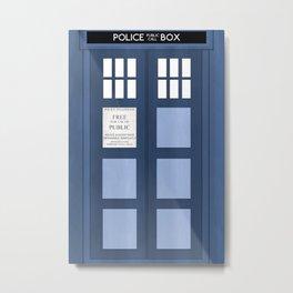 Doctor Who, Tardis Metal Print