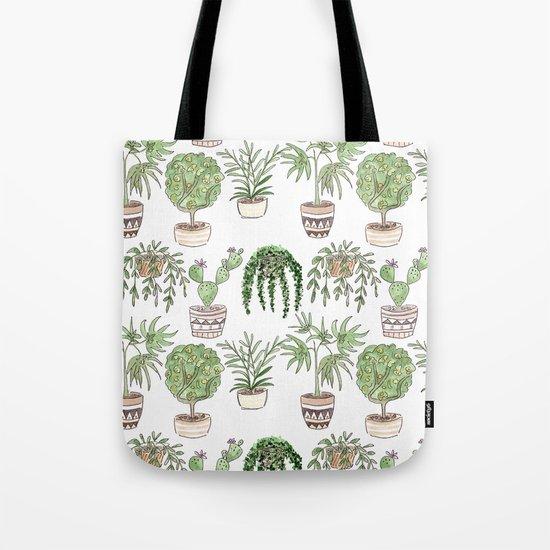 Watercolor . Plants . Tote Bag