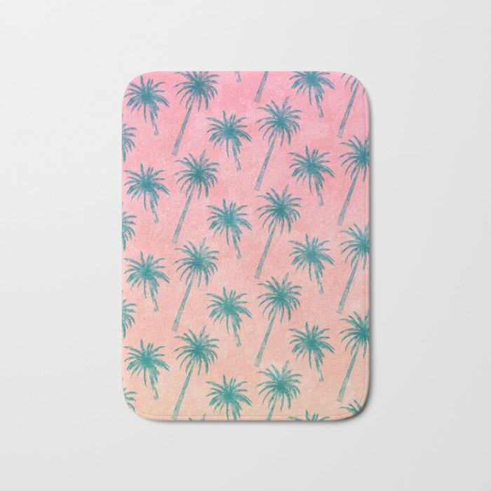 Palm Tree Pattern Bath Mat