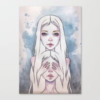 twins Canvas Prints featuring Twins by Black Fury