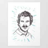 tom selleck Art Prints featuring Tom Selleck! by Stuart MacCabe