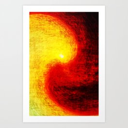 burn sun Art Print