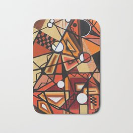 Geometric Composition Bath Mat