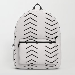 mudcloth pattern white black arrows Backpack