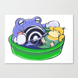 Poke Pool Summer Time Canvas Print