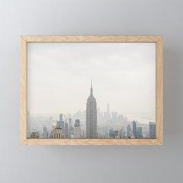 Empire State Building New York City, USA - Travel Photography  | Framed Art Print | fine art wall print Framed Mini Art Print
