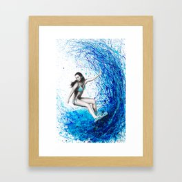 Thoughts and Waves Framed Art Print