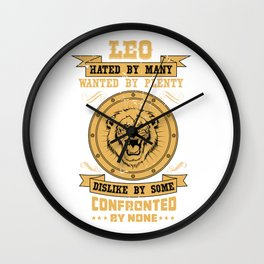 Zodiac Leo Birthday Boy July August Wall Clock