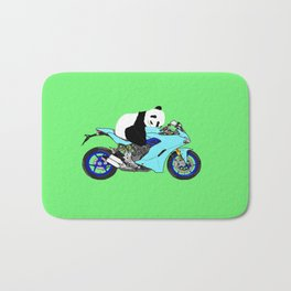 Panda on Bike Bath Mat