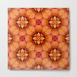 Fresh Apricot's Geometrical Pattern Metal Print