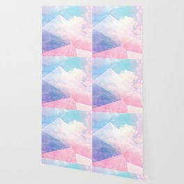 Cotton Candy Geometric Sky #homedecor #magical #lifestyle Wallpaper