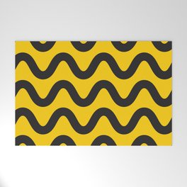 Yellow Ripple Welcome Mat