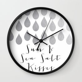 Sun & Sea Salt Kisses Wall Clock