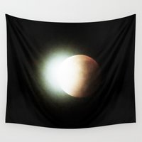 lunar Wall Tapestries featuring Lunar Eclipse by The Wellington Boot