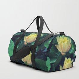 Yellow Lotus Flowers Duffle Bag
