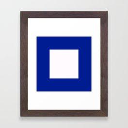 Semaphore P Framed Art Print