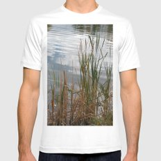 Pond Side White MEDIUM Mens Fitted Tee