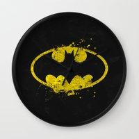 nightwing Wall Clocks featuring Bat man's Splash by Sitchko Igor