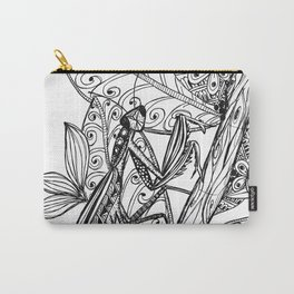 Praying Mantis in Ink Carry-All Pouch