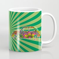 vw Mugs featuring VW Beetle by Colour Mugs