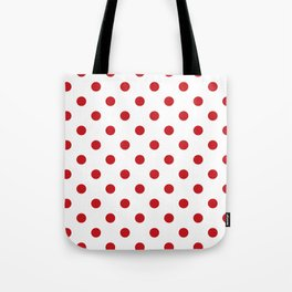 Red Polka Dots Tote Bag
