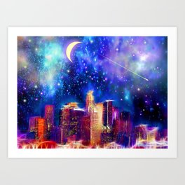 Starry Night Los Angeles Art Print