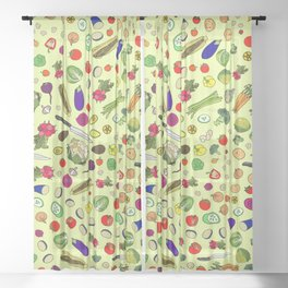 Vegetable Soup Recipe Sheer Curtain