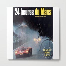 Le Mans, 24hs Le Mans 1971, vintage poster, Le mans t-shirt Metal Print