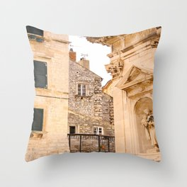 Terrace in Old Town Europe #decor #society6 #buyart Throw Pillow