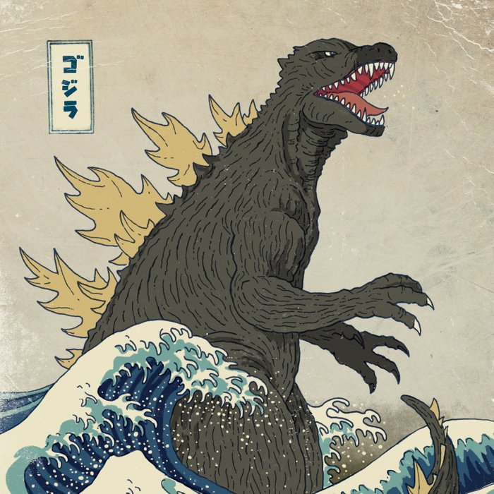 The Great Godzilla off Kanagawa Comforters