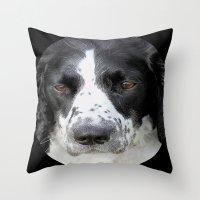 border collie Throw Pillows featuring Border Collie by Doug McRae