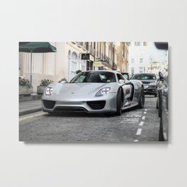 Porsche 918 Spyder. Metal Print