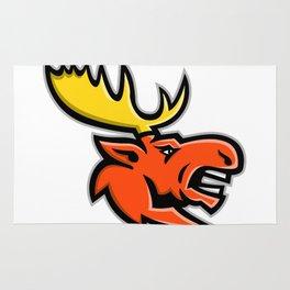 Angry Moose Head Mascot Rug