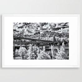 Portland in Infrared Framed Art Print