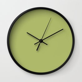 Delicious Olive Dark Pastel Green Solid Color Pairs To Sherwin Williams Lime Rickey SW 6717 Wall Clock