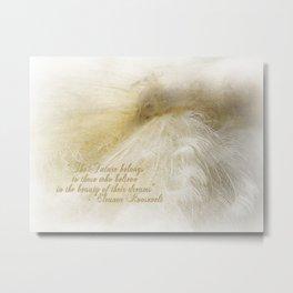 Dreaming in White Metal Print