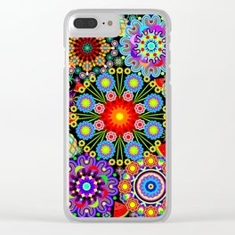 Mandalas & Exotic Fruits Pattern Clear iPhone Case