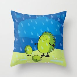 happy when it rains Throw Pillow