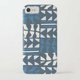blue triangles and pods iPhone Case