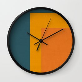Little Boxes, Geometric Shapes Wall Clock