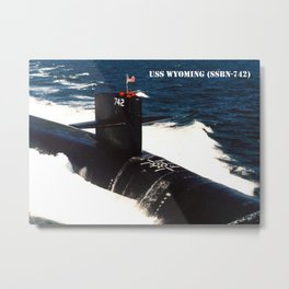 USS WYOMING (SSBN-742) Metal Print