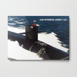 USS WYOMING (SSBN-742) Metal Print