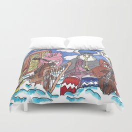 Animal Orchestra Duvet Cover