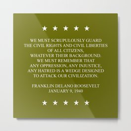 FDR QUOTE Metal Print