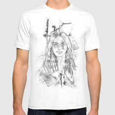 Branching out MEDIUM Mens Fitted Tee White